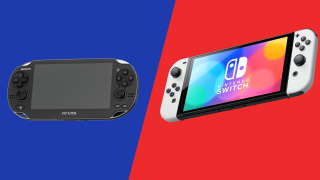 Nintendo Switch OLED and PS Vita OLED