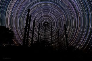 Star Trails Pillars India Largest Telescope Talwar