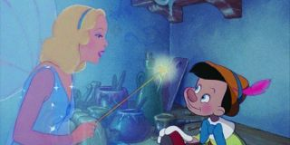 The Blue Fairy and Pinocchio