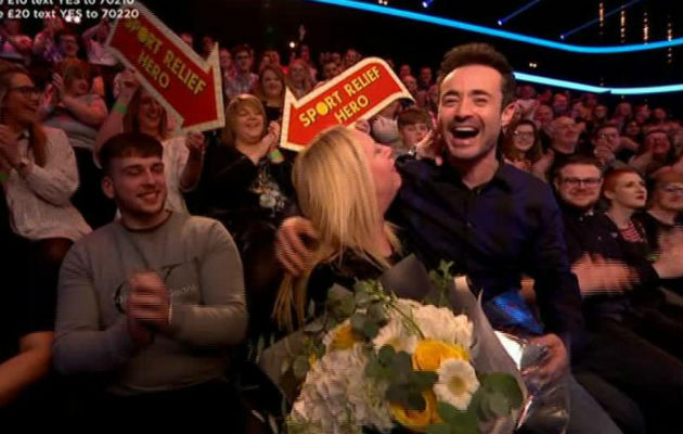Sport Relief fans in hysterics after Strictly's Joe McFadden has very awkward moment with a fan