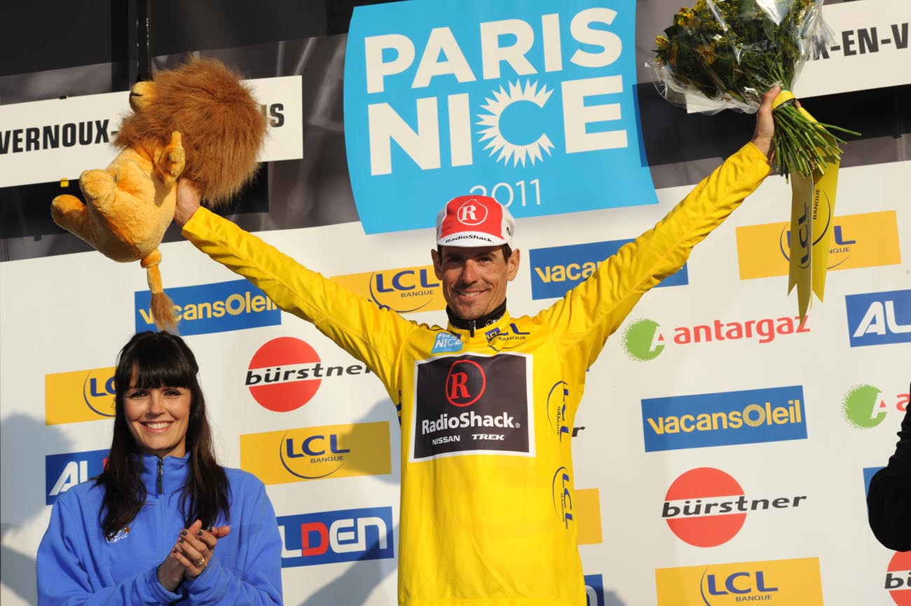Andreas Kloden takes race lead, Paris-Nice 2011, stage five