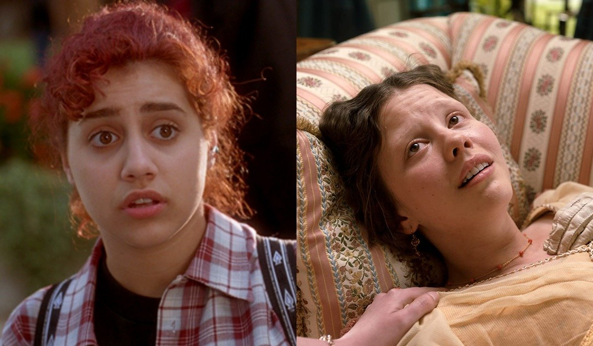 Brittany Murphy as Tai in Clueless and Mia Goth as Harriet in Emma