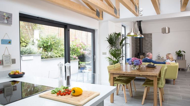 Heather and Jim Stewart unified their house and garden with an open-plan kitchen diner