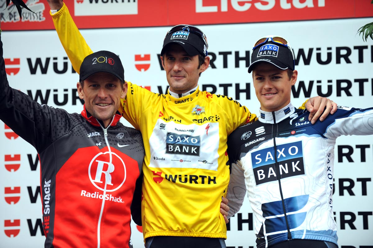 Frank Schleck wins overall, Tour de Suisse 2010, stage nine time trial