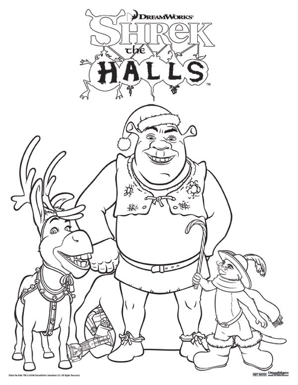Celebrate Shrek The Halls With A Printable Coloring Page #4277