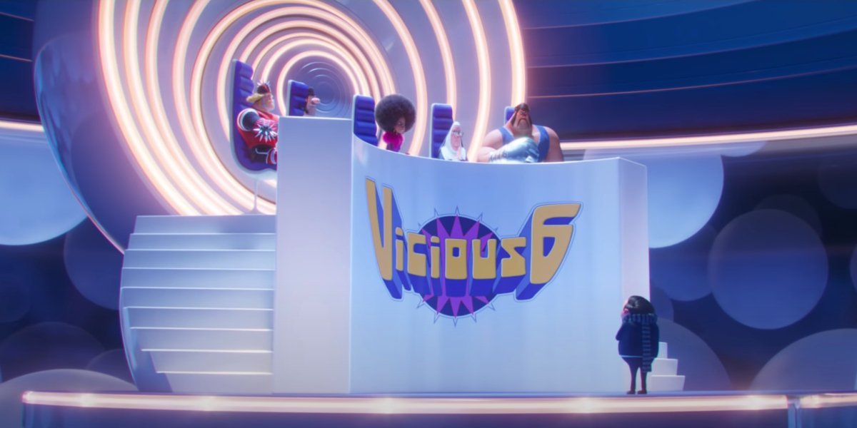 Gru and the Vicious 6 in Minions 2