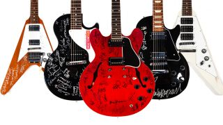 Signed electric guitars