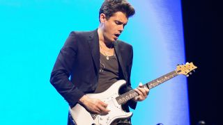 The American guitarist, singer and songwriter John Mayer performs a live concert at Oslo Spektrum. Norway, 08/05 2017.
