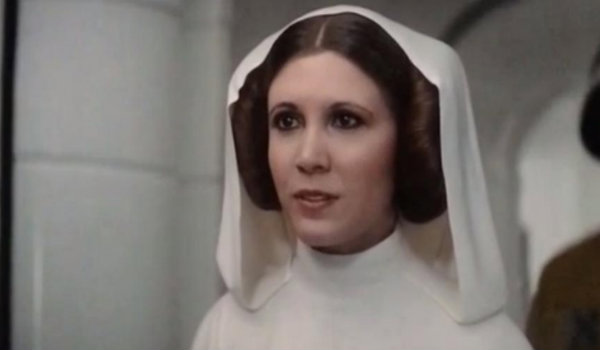 Carrie Fisher in Rogue One, sort of