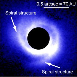 Disk around SAO 206462