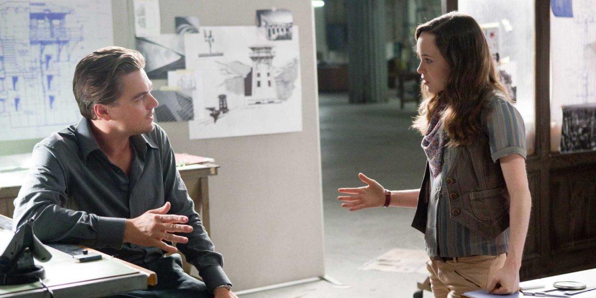 Leonardo DiCaprio and Ellen Page in Inception