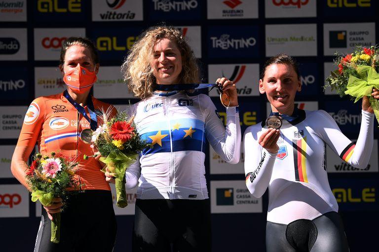 Marlen Reusser wins the elite women's TT at the 2021 European Championships