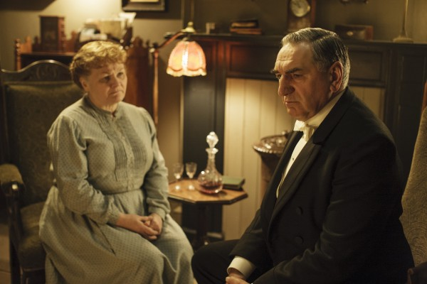 An awkward conversation between Mrs Patmore and Mr Carson