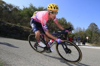 EF Pro Cycling's Rigoberto Uran descends on stage 15 of the 2020 Tour de France
