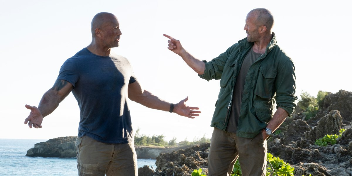 Dwayne Johnson and Jason Statham in Hobbs & Shaw