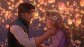 Rapunzel and Flynn Rider in Tangled