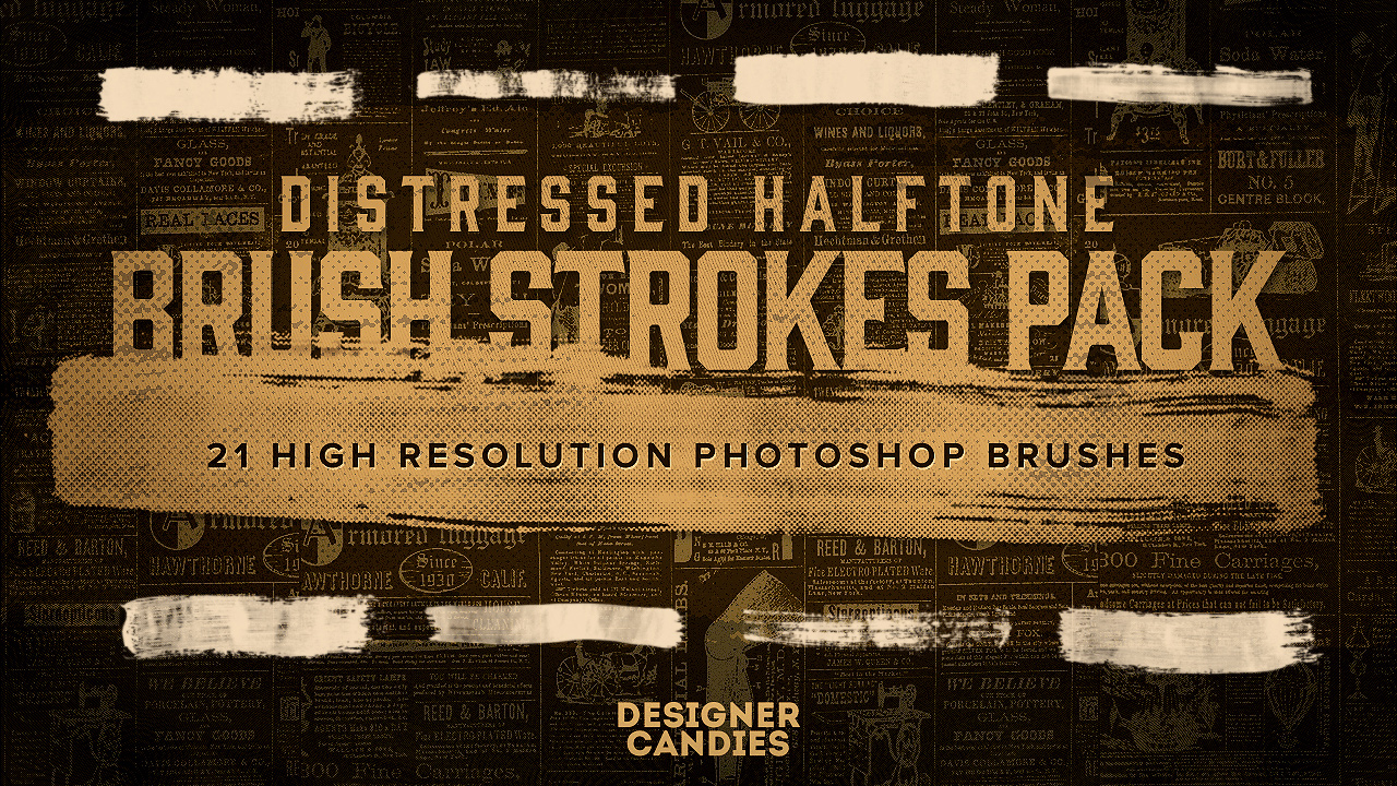 Photoshop brushes: distressed