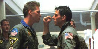 Val Kilmer and Tom Cruise in Top Gun