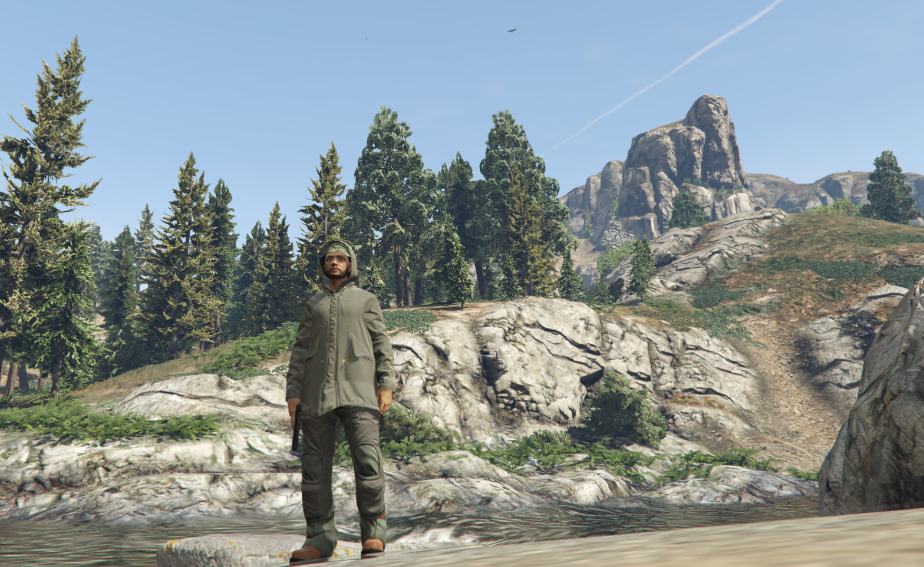 I murdered some trophy hunters in the woods in GTA 5