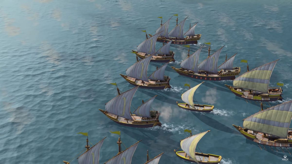 Age of Empires 4 shows off naval battles, camel riders