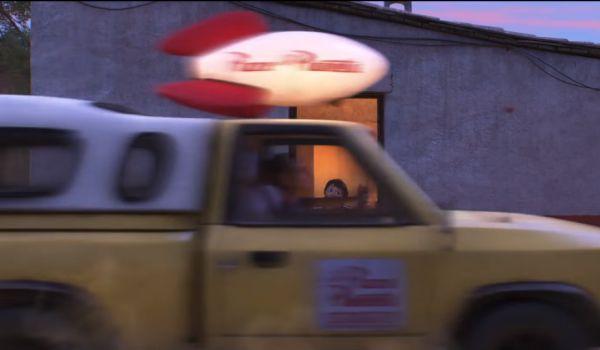 Coco Pizza Planet truck