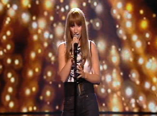 However Stacey Solomon impressed with her version of Coldplay's The Scientist