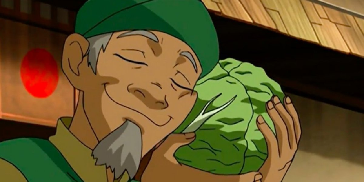 The cabbage man with his cabbages in Avatar: The Last Airbender.