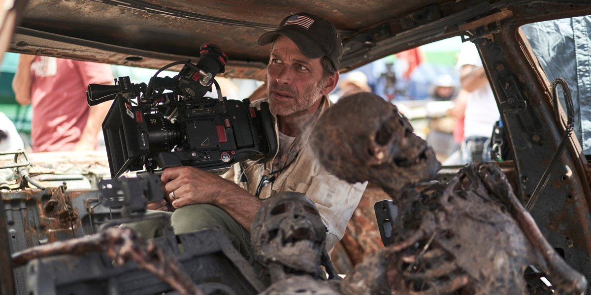 Zack Snyder on the set of Army Of The Dead