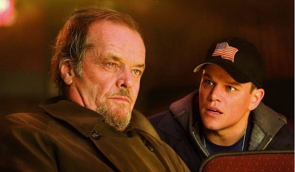The Departed Jack Nicholson and Matt Damon have a talk at the movies