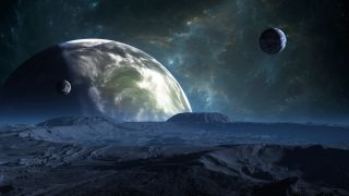 Exoplanet with an atmosphere.