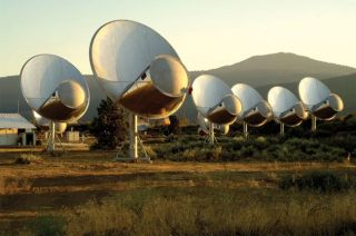 A look at the SETI Institute's Allen Telescope Array at Hat Creek Observatory about 290 miles northeast of San Francisco, Calif.