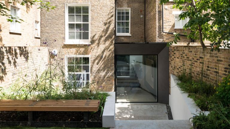 rear extension with contemporary feel made from glass attached to period property by iq glass