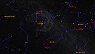 Sky Map of Auriga, the Charioteer