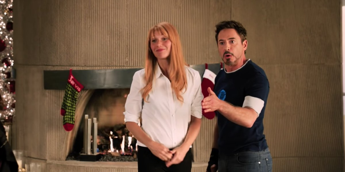Gwyneth Paltrow and Robert Downey Jr. in Iron Man 3