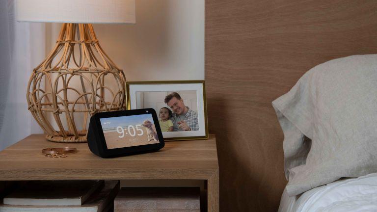 Amazon Echo deals: Echo Show 5 in bedroom on bedside table