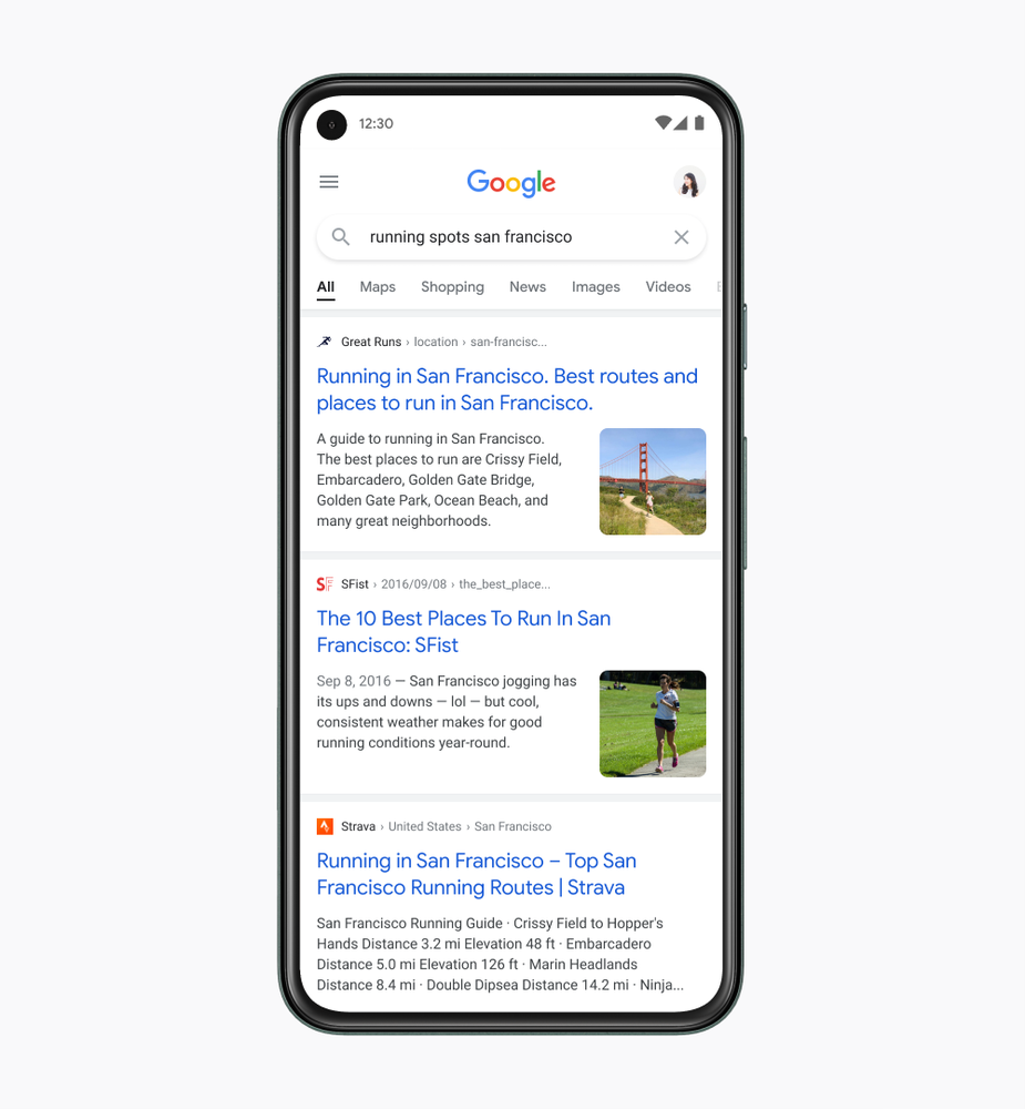 Google search tweaked for enhanced readability