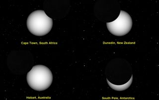 Partial solar eclipse on Nov. 25 from Southern Hemisphere.