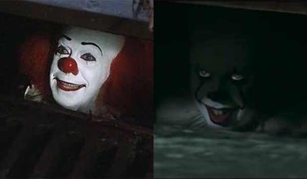 Pennywise 1990 2017 IT Side By Side