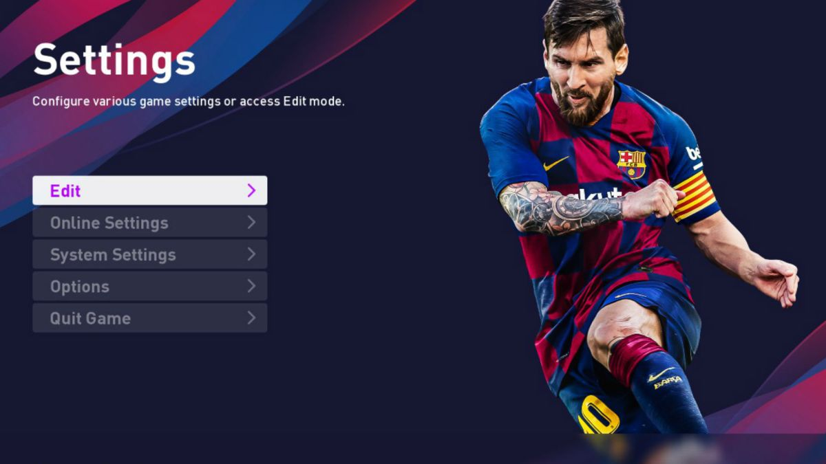PES 2020 option file PC: how to download official team names