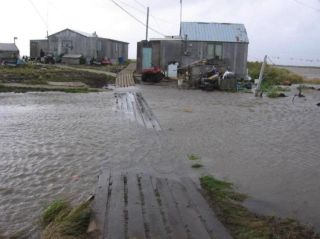 Flooding in Newtok, Alaska