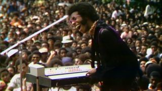 """Sly Stone performs during """"Summer of Soul"""""""