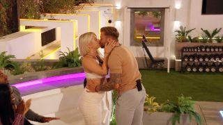 Love Island 2021 - Jake and Liberty kiss at the latest recoupling