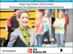Improving Student Achievement: Professional Development and Informed Instruction