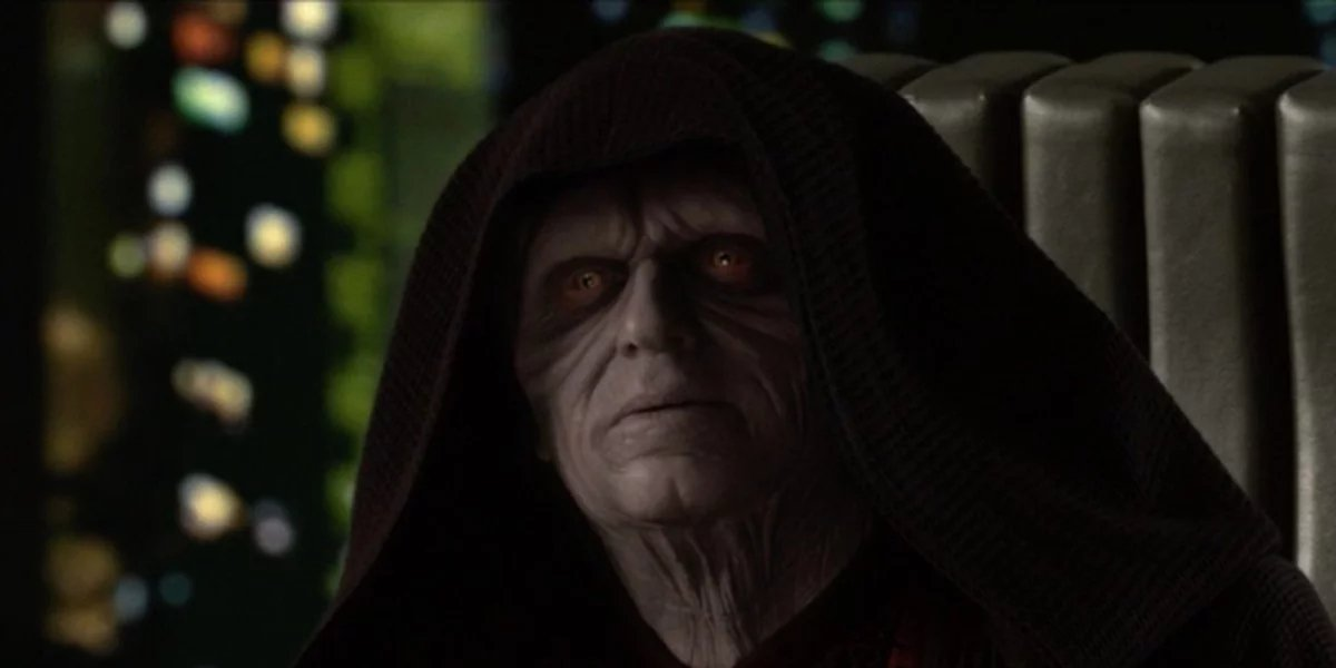 Ian McDiarmid as Emperor Palpatine in Star Wars: Revenge of the Sitch