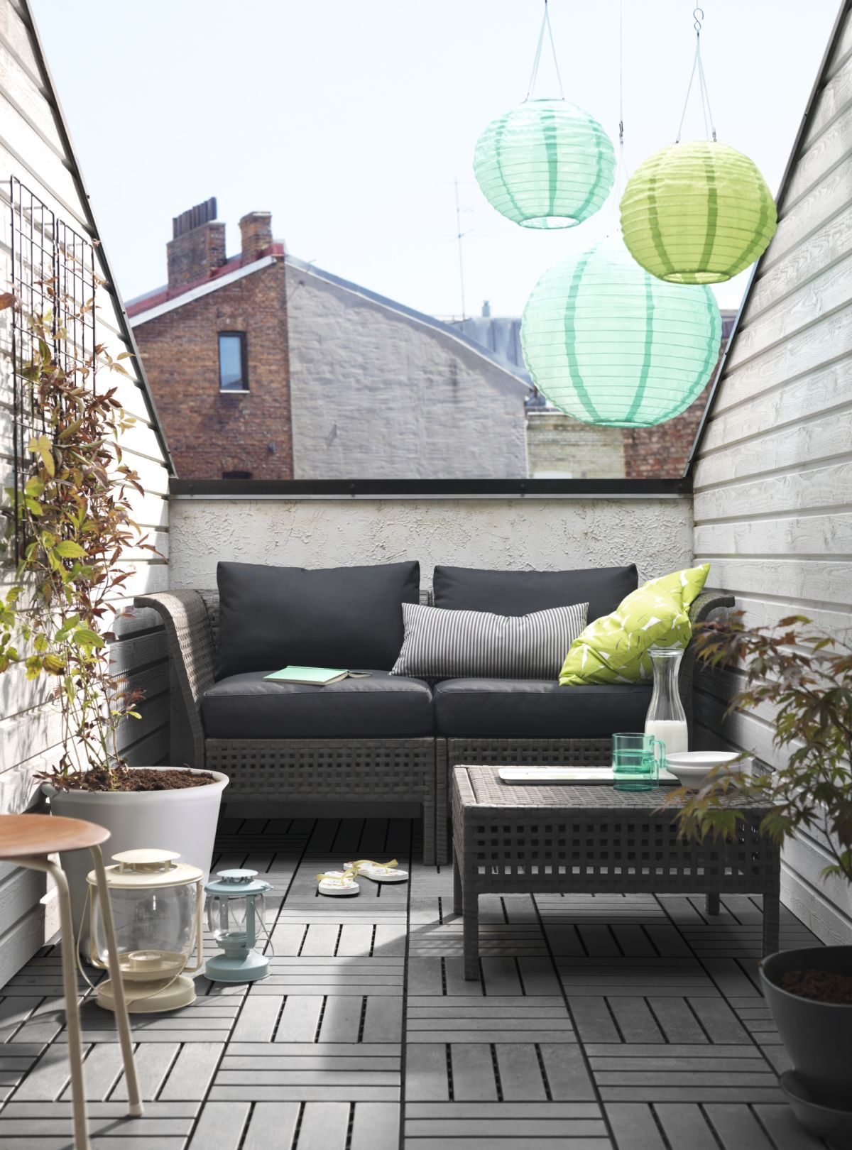 10 Ideas For Small Garden Terraces And Balconies Real Homes