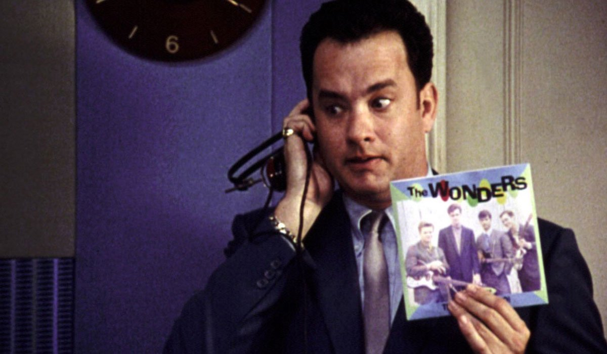Tom Hanks holding up a Wonders record in That Thing You Do.
