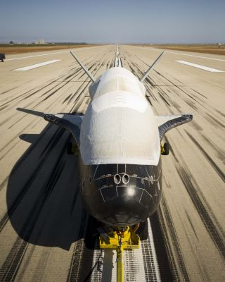 Air Force's X-37B Orbital Test Vehicle 2 after landing on June 16, 2012.