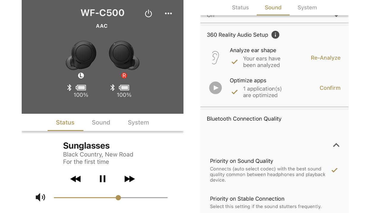 the sony headphones connect app