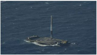 SpaceX's Falcon 9 Rocket successfully touched down on a drone ship after launching today (April 8).