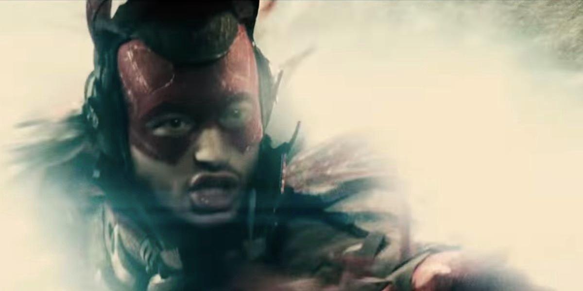 Ezra Miller as The Flash in Batman v. Superman: Dawn of Justice